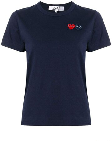 logo embroidered crew neck T-shirt