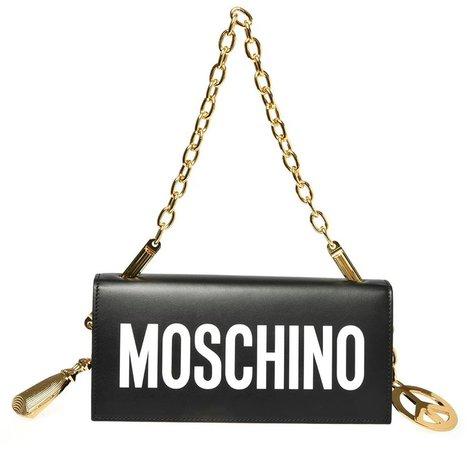 Logo Leather Shoulder Bag
