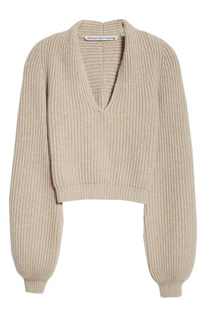 Alexander Wang Ribbed Wool & Cashmere Blend Sweater | Nordstrom