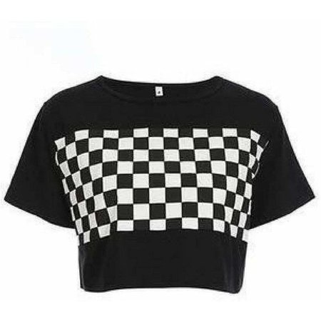 Checkerboard Strap Crop – Own Saviour