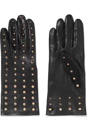 Agnelle   Studded leather gloves   NET-A-PORTER.COM
