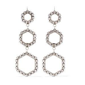 Isabel Marant Silver-tone crystal earrings €290