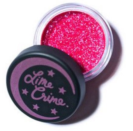 lime crime hot pink glitter shadow