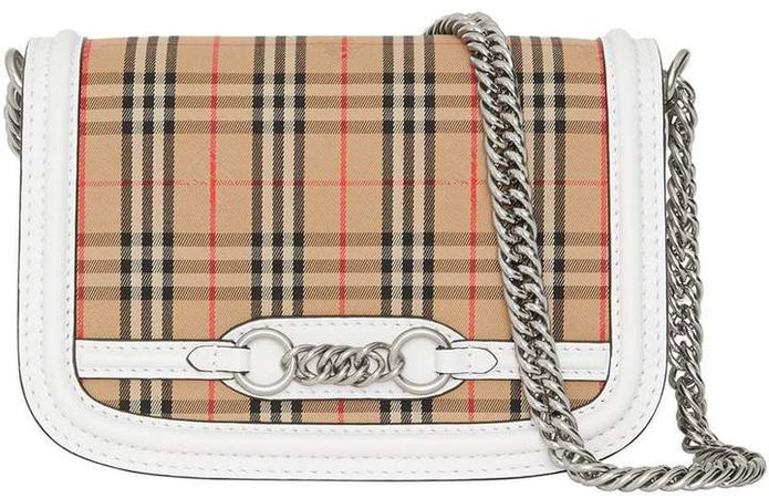 The 1983 Check Link Bag with Leather Trim