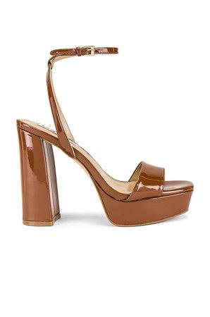 Steve Madden Lessa Heel Sandal in Cognac | REVOLVE