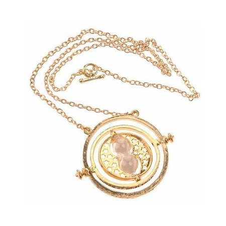 Time Turner Rotating Hourglass Pendant Nacklace