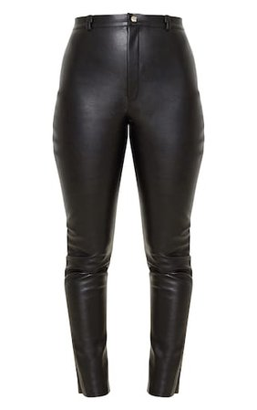 Black Faux Leather Skinny Trouser   PrettyLittleThing