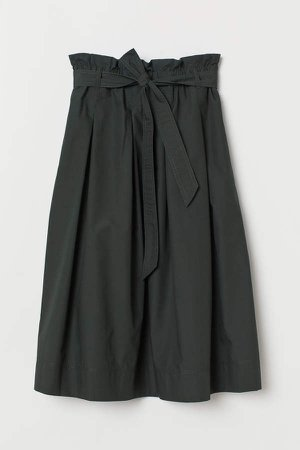 Calf-length Skirt - Green