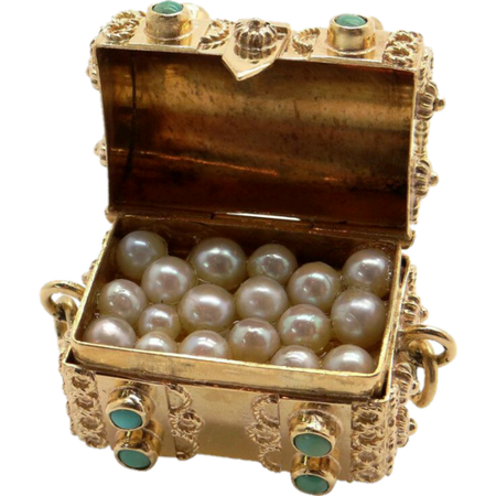 gold box of pearls
