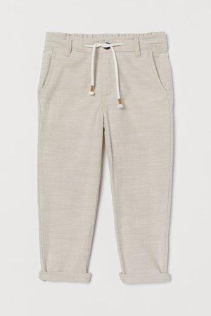 Pull-on Pants - Light beige melange - Kids   H&M US