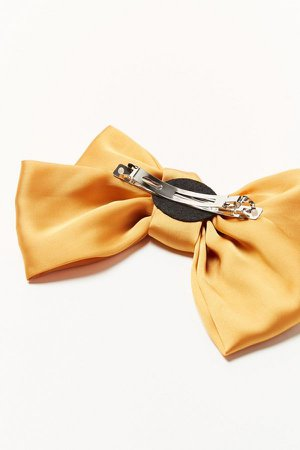 Satin Hair Bow   Urban Outfitters