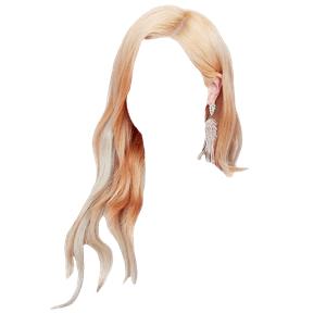 Orange ish Blonde Hair PNG