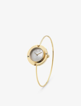 GUCCI - YA151502 Play mother-of-pearl and yellow-gold watch | Selfridges.com
