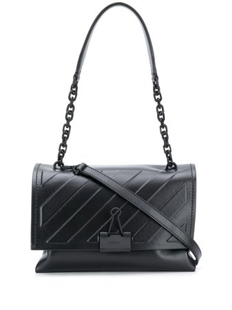 Off-White Diagonal Embossed Shoulder Bag - Farfetch