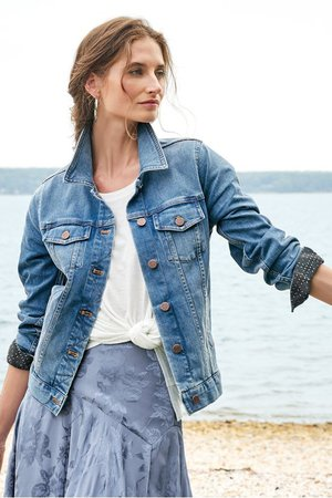 The Ultimate Denim Jacket - Classic Denim Jacket | Soft Surroundings
