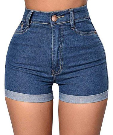 Womens High Waisted Shorts Stretch Denim Jeans with Pockets By Baifern at Amazon Women's Clothing store:
