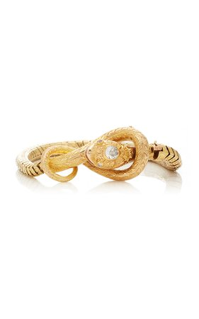 Victorian Snake Bracelet by Simon Teakle   Moda Operandi