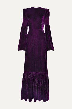 The Vampire's Wife | Tiered shirred velvet maxi dress | NET-A-PORTER.COM
