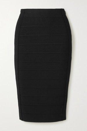 Bandage Midi Skirt - Black