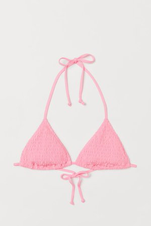 Triangle Bikini Top - Pink - Ladies | H&M US