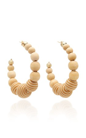 Colonia Wood Hoop Earrings by Rosantica | Moda Operandi