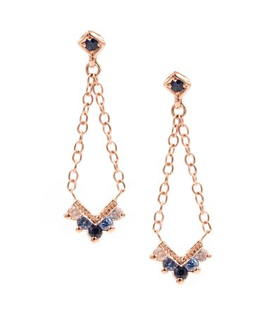 Rose Gold Chevron Earrings - Audry Rose