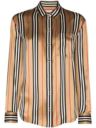 Burberry Godwit Icon Checked Silk Shirt - Farfetch