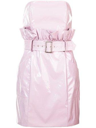 Fleur Du Mal Pvc Paper Bag Dress