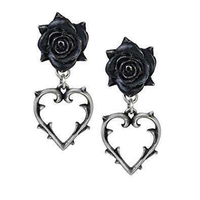 gothic rose earings