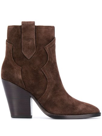 Ash Suede Heeled Ankle Boots - Farfetch