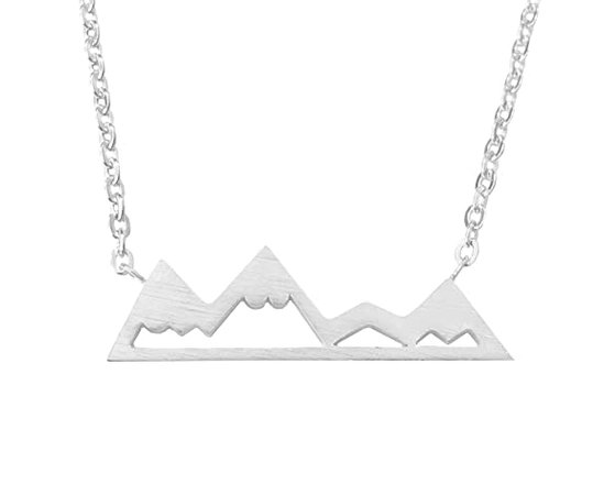 Amazon.com: Altitude Boutique Snowy Mountain Necklace, Mountain Jewelry for Nature Enthusiasts, Skiers, Snowboarders, Hikers, Campers (Gold): Jewelry