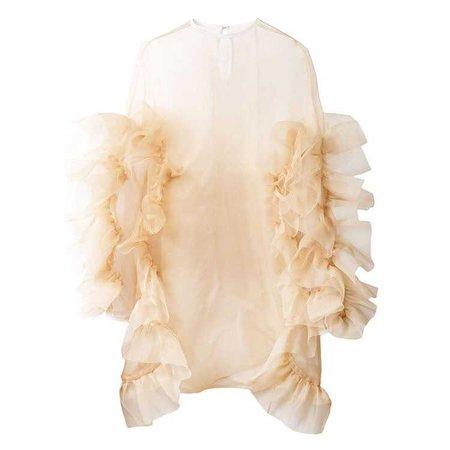Roberts Wood Sheer Ruffle Dress