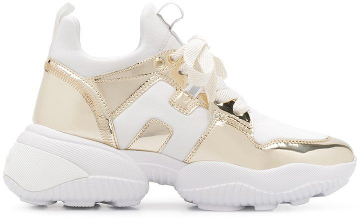 Metallic Chunky Sole Sneakers