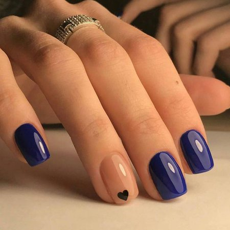 navy blue nail designs - Google Search