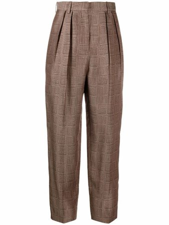 Sandro Paris high-waisted tapered-leg trousers - FARFETCH