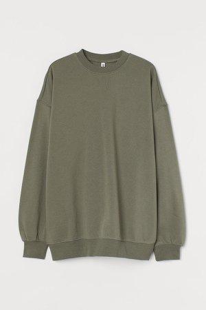 Oversized Sweatshirt - Green