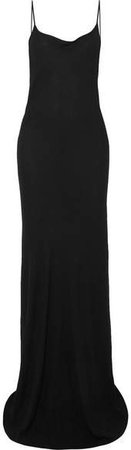 Open-back Jersey Maxi Dress - Black