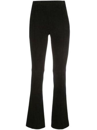 Adam Lippes Kick cropped suede trousers black R20501SX - Farfetch