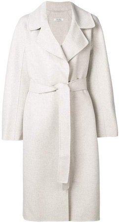 'S belted wrap coat