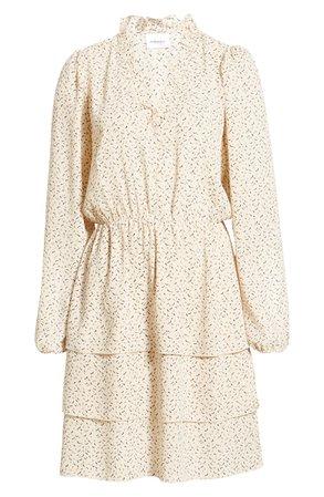 VERO MODA Kanya V-Neck Long Sleeve Minidress | Nordstrom