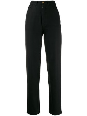 CHANEL PRE-OWNED 1990s high rise skinny jeans