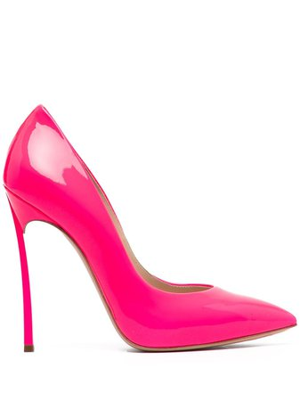 Casadei Patent Leather Pointed Pumps - Farfetch