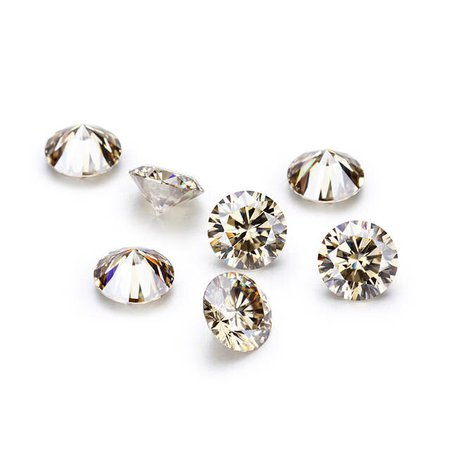 Online Shop Champagne color 6.5mm moissanites loose gems stones for jewelry making tested positive | Aliexpress Mobile