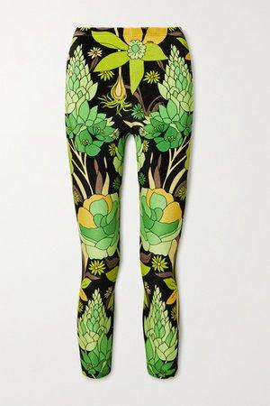 Fendi | Legging raccourci réversible en velours et en jersey stretch imprimés | NET-A-PORTER.COM