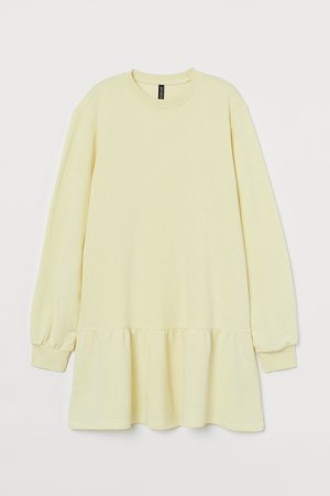 Sweatshirt Dress - Yellow