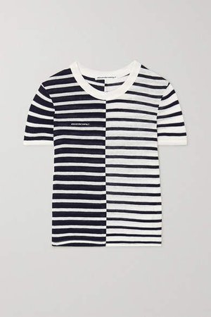 Striped Slub Jersey T-shirt - Ivory