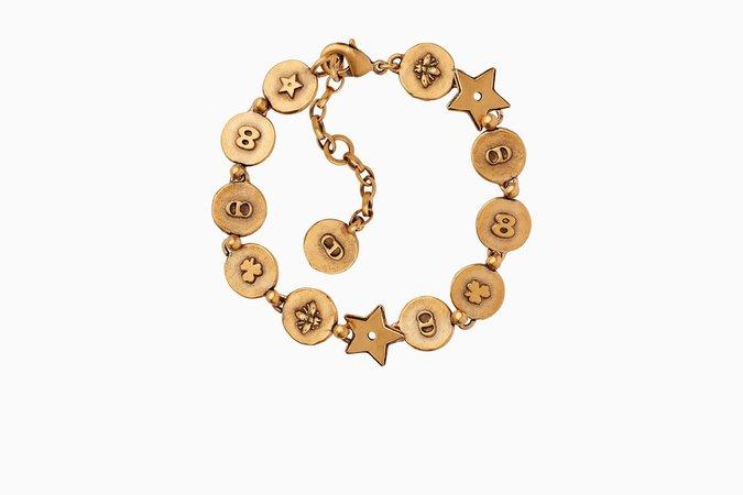 """Bracelet """"amulettes d'amour"""" en métal vieilli doré - Dior"""