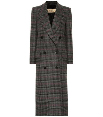 Checked Wool Coat - Burberry | mytheresa