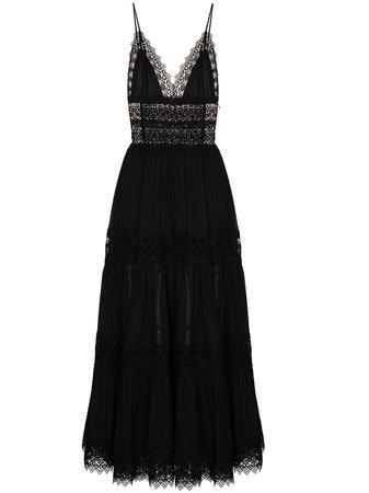 Shop black Charo Ruiz Ibiza Cindy lace trim maxi dress with Express Delivery - Farfetch