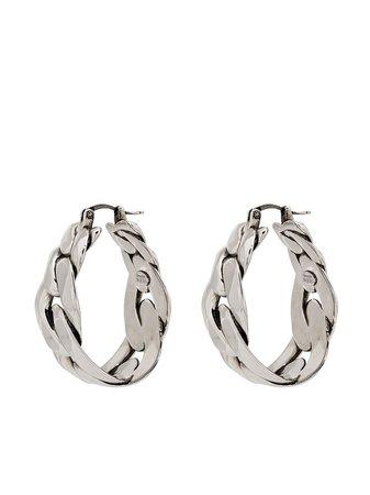 Alexander McQueen chain-link Hoop Earrings